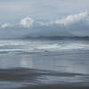 Surf on the beach, Pacific Rim National Park Reserve, Tofino, Vancouver Island, British Columbia, Canada