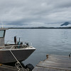 Fishing boat at dock, Pacific Rim National Park Reserve, Tofino, Vancouver Island, British Columbia, Canada