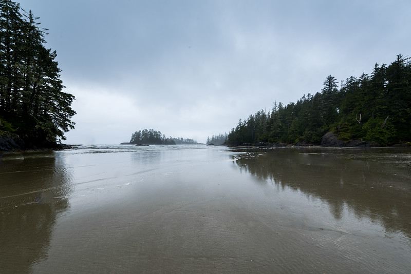 View of an ocean inlet, Pacific Rim National Park Reserve, British Columbia, Canada