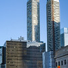View of skyscrapers, Harbour Plaza Residences, Toronto, Ontario, Canada