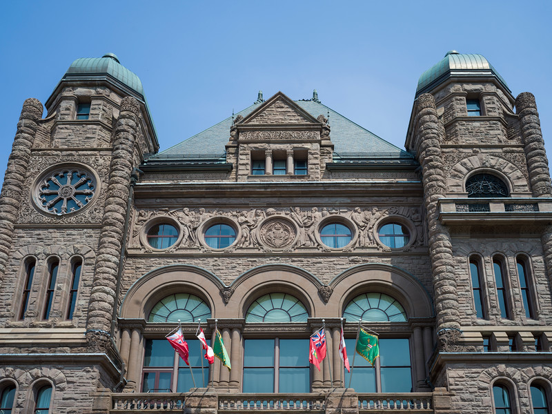 Exterior of Government building in Toronto, Ontario, Canada