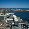 Elevated view of city at the waterfront, Lake Ontario, Toronto, Ontario, Canada