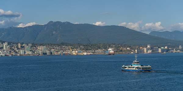 Seabus on Burrard Inlet, Vancouver, Lower Mainland, British Columbia, Canada