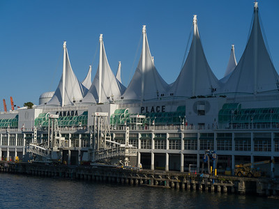 View of Canada Place, Burrard Inlet, Vancouver, Lower Mainland, British Columbia, Canada