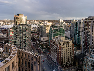 Aerial view of Vancouver, Lower Mainland, British Columbia, Canada