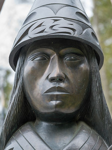 Close-Up of a statue, Stanley Park, Vancouver, Lower Mainland, British Columbia, Canada