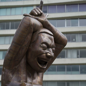 Close-up of a sculpture, Vancouver, Lower Mainland, British Columbia, Canada