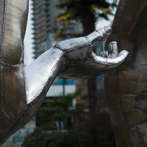 Arm section of a sculpture, Vancouver, Lower Mainland, British Columbia, Canada