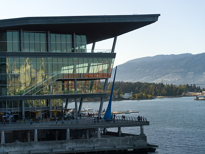 Building along Burrard Inlet, Vancouver, Lower Mainland, British Columbia, Canada