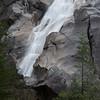Waterfall through rocky terrain, Britannia Beach, Whistler, British Columbia, Canada
