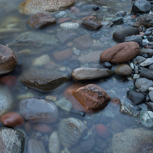 Rocks in water, Whistler, British Columbia, Canada