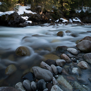 River flowing through forest, Whistler, British Columbia, Canada
