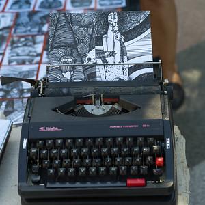 Close-Up of a vintage typewriter, Havana, Cuba