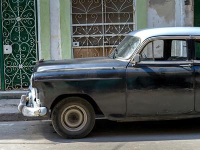 Close-up of a vintage car, Havana, Cuba