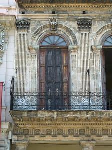 Fa�ade of a building, Havana, Cuba