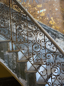 Low angle view of staircases, Havana, Cuba