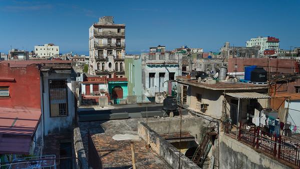 View of houses in Havana, Cuba