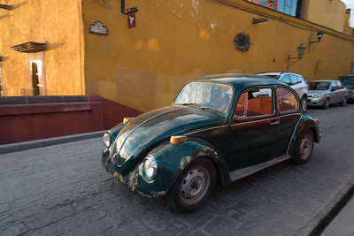 Cars on a street, Zona Centro, San Miguel de Allende, Guanajuato, Mexico