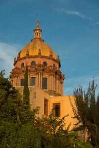 Low angle view of a church dome, Zona Centro, San Miguel de Allende, Guanajuato, Mexico