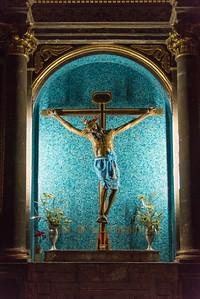 Crucifix Altar in a church, San Miguel de Allende, Guanajuato, Mexico