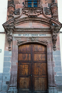 Entrance doorway of a building, Zona Centro, San Miguel de Allende, Guanajuato, Mexico