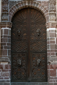 Entrance of a church, Zona Centro, San Miguel de Allende, Guanajuato, Mexico