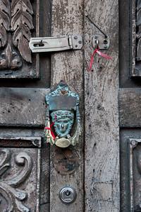 Detail of door knocker, Zona Centro, San Miguel de Allende, Guanajuato, Mexico