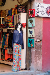 Mannequin in a boutique, Zona Centro, San Miguel de Allende, Guanajuato, Mexico