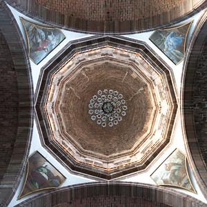 Ceiling detail of church, Zona Centro, San Miguel de Allende, Guanajuato, Mexico