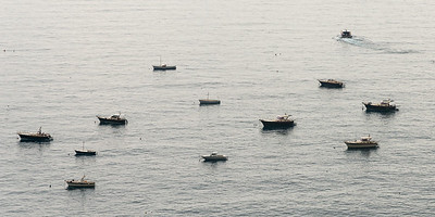 Boats in sea, Positano, Amalfi Coast, Salerno, Campania, Italy