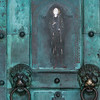 Detail on metal door of the Amalfi Cathedral, Amalfi, Amalfi Coast, Salerno, Campania, Italy