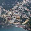 View of a town at coast, Amalfi Coast, Salerno, Campania, Italy