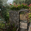 Gate in a park, Praiano, Amalfi Coast, Salerno, Campania, Italy