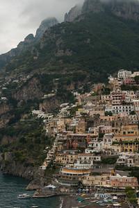 Town at Amalfi Coast, Positano, Amalfi Coast, Salerno, Campania, Italy