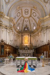 Interiors of a church, Positano, Amalfi Coast, Salerno, Campania, Italy