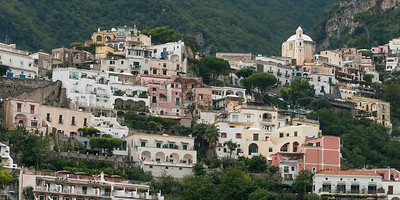 View of buildings in a town, Positano, Amalfi Coast, Salerno, Campania, Italy
