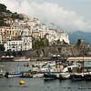 Boats at harbor, Amalfi, Amalfi Coast, Salerno, Campania, Italy