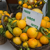 Close-up of lemons for sale at a market stall, Amalfi, Amalfi Coast, Salerno, Campania, Italy