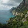 View of coast, Amalfi Coast, Salerno, Campania, Italy
