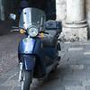 Moped on street, Orvieto, Terni Province, Umbria, Italy