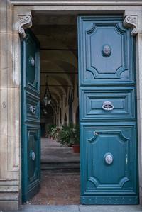 Doorway of a building, Orvieto, Terni Province, Umbria, Italy