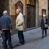 Senior people talking on street, Orvieto, Terni Province, Umbria, Italy
