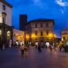 People at Piazza Della Repubblica, Orvieto, Terni Province, Umbria, Italy