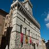 Historic building at Piazza Grande, Montepulciano, Siena, Tuscany, Italy