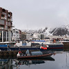 Buildings at waterfront, Svolvaer, Lofoten, Nordland, Norway