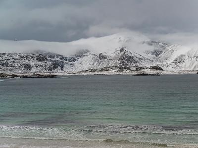 Waves on the beach, Lofoten, Nordland, Norway