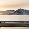 Scenic view of sea at sunset, Lofoten, Nordland, Norway