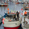 Fishing boats at harbor, Henningsvaer, Austvagoy, Lofoten, Nordland, Norway
