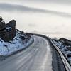Road passing through coast, Lofoten, Nordland, Norway