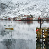 Fishing boat in sea, Lofoten, Nordland, Norway